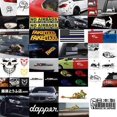 30 styles Funny Car Truck Vinyl Sticker Racing Window Bumper Decal Waterproof
