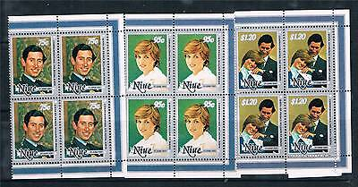 Niue 1982 Birth of Prince William BLK 4 SG 458-63 MNH