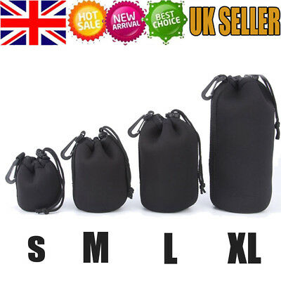 Waterproof DSLR Camera Lens Soft Protector Carry Pouch Bag Case Size S-XL