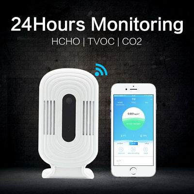 USB Wifi Air Quality Tester Smart Air Monitor Detector HCHO&TVOC&CO2 Analyzer