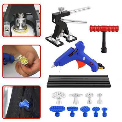 PDR Paintless Dent Puller Lifter Hammer Hail Removal Glue Gun Repair Tools Kit