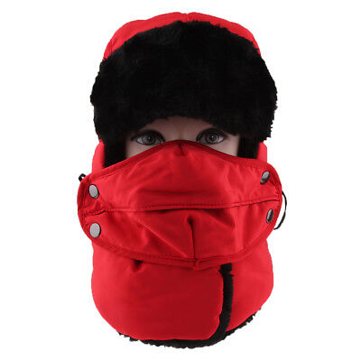 Trapper Hat Cotton Padded Cap Retro Winter Keep Warm Mask