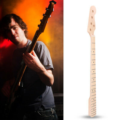 Durable Maple Wooden Electric 5-String Bass Guitar Neck 21-Fret Replacement Part