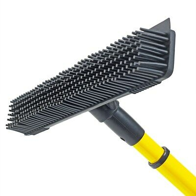 Synthetic Lawn Brush Telescopic Broom Garden Rubber Head Fake Astro Turf Cleaner
