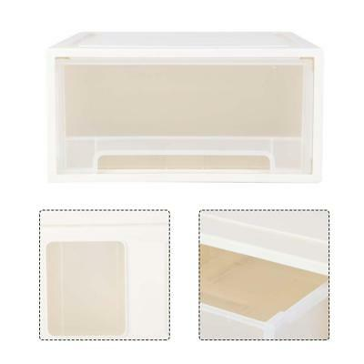 Awesome NEW Large Wide Plastic Storage Box Tote Container Organizer Bin W/ Drawer  Clear