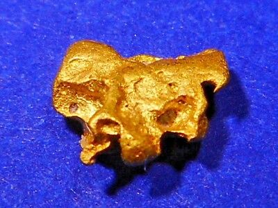 One Brilliant Sparkling Clean Australian Gold Nugget  ( 0.34 grams ).