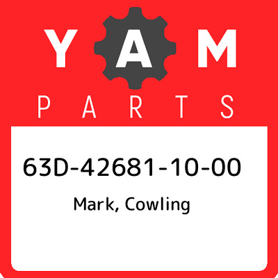 63D-42681-10-00 Yamaha Mark, cowling 63D426811000, New Genuine OEM Part