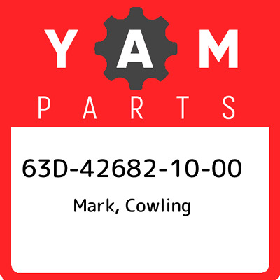 63D-42682-10-00 Yamaha Mark, cowling 63D426821000, New Genuine OEM Part