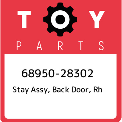 68950-28302 Toyota Stay assy, back door, rh 6895028302, New Genuine OEM Part