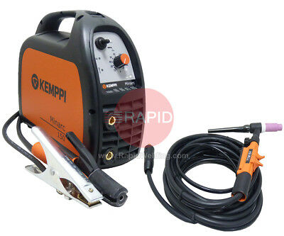 Kemppi Minarc 150 MMA Welder Lift Tig with TTM 15V 4m Tig Torch, 240v