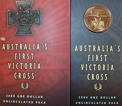 SUPERB!!! ONE DOLLAR UNCIRCULATED PACK 2000 AUSTRALIA/'S FIRST VICTORIA CROSS