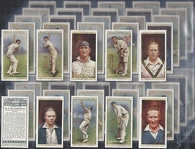 Wills-Full Set- Cricket Ers 1928 (50 Cards) - Exc