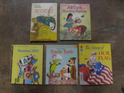 Lot of 5 Vintage, Collectible, Childrens Books