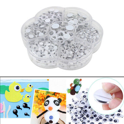 Different Sizes Moving Googly Eyes For Crafts, Decorating Toys DIY 700pcs