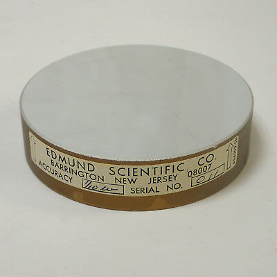 "EDMUND SCIENTIFIC 696099-50 CIRCULAR PRECISION OPTICAL FLAT MIRROR 3"" x .75"