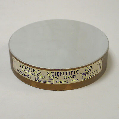 "EDMUNDS SCIENTIFIC 696099-50 CIRCULAR PRECISION OPTICAL FLAT MIRROR 3"" x .75"