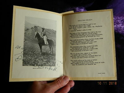 Signed Bruce D. Brockett's Poems Eatons' Ranch Wolf Wyoming 1930 Joe De Yong Art