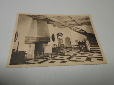 """Cp  Ancienne:    """"  Le Chateau De Chimay   Grand  Hall   """""""