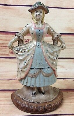 Rare Authentic Original Antique Hubley Cast Iron French Girl # 23 Door Stop