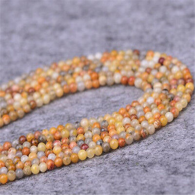 "1pcs 4MM Crazy agate Gemstone Loose bead 15"" Handmade Healing Wholesale"