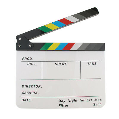Colorful Acrylic Movie Film Clapboard Photography Accessory Clapper Board