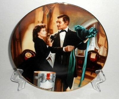 "Gone With The Wind ""The Paris Hat"" Bradford Exchange Collectors Plate Complete"