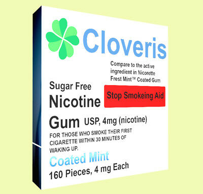 Nicotine Gum, 4 mg, Coated Mint Flavor, 160 Pieces 4mg - High Quality Brand New