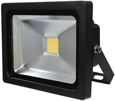 Heavy Duty 20W LED Outdoor Floodlight by Titan, Black, IP65 5000K, Brand New, UK