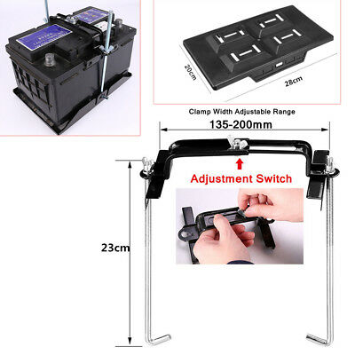 """Car Boat Battery Tray Adjustable Hold Down Clamp Width Range 5.31-7.87/"""" US Stock"""