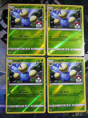 Set of 4x Pokemon Lost Thunder Jumpluff 14//214 League Stamp Holo Promo MINT!!
