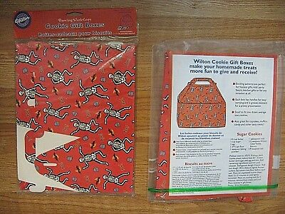 Wilton HALLOWEEN Cookie Boxes Dancing Skeletons 5 boxes
