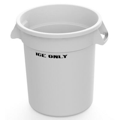 """10 Gallon White Ice Bucket with """"Ice Only"""" Logo"""