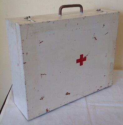 Vintage Wooden First Aid Box