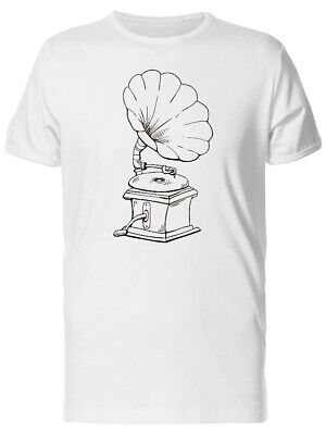 Sketch Of A Gramophone Men's Tee -Image by Shutterstock