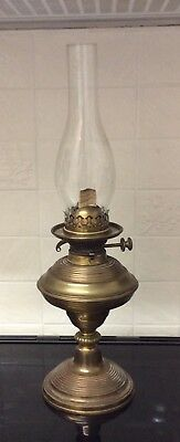 Antique Brass Oil Lamp Burner With Shade ++ Hinks No 2 Duplex++