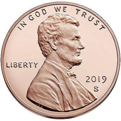 "2019 ""S"" Lincoln Penny Union Shield Cent, Gem Proof, Single Coin"