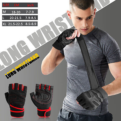 Gym Gloves With Wrist Wrap Support For Weight Lifting/Training/Workout/Fitness