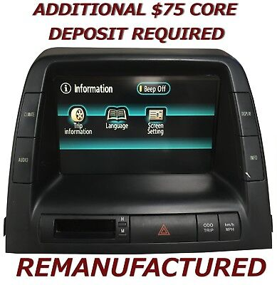 REMAN 06 07 08 09 Toyota Prius MFD Multi Information Display 86110-47230 XCHANGE