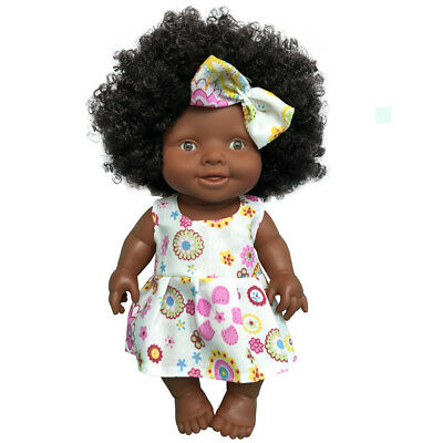 10''Baby Movable Joint African Doll Toy Black Doll Best Gift Toy Christmas Toy E