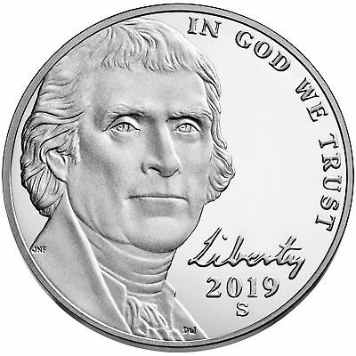 "2019 ""S"" Return to Monticello Jefferson Nickel, Gem Proof, Single Coin"