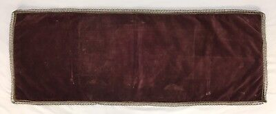 Vintage Burgundy Velvet Fabric & Metallic Thread Trim Table Runner