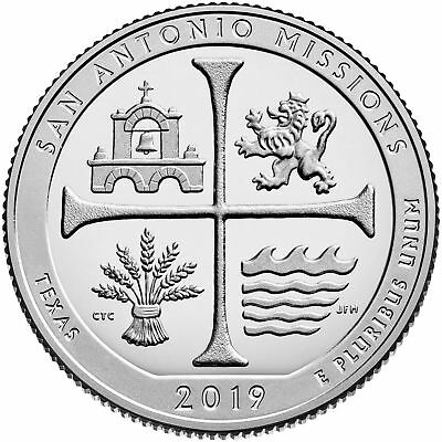 "2019 ""S"" ATB San Antonio Missions, Clad Quarter, Proof, Single Coin"