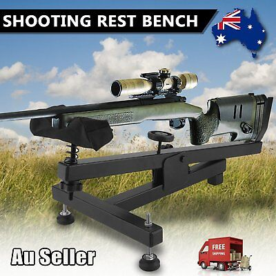 Shooting Rest Bench Hunting Gun Rifle Shoot Bench Steel Steady Padded Stand LY