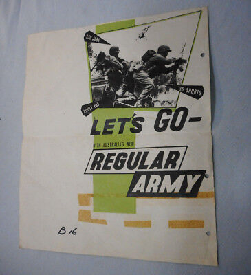 #T305.   1960/70s  AUSTRALIAN ARMY RECRUITMENT POSTER