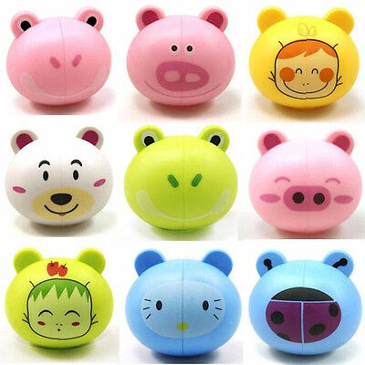 6Colors Cartoon Animal Head Toothbrush Holder Stand Cup Mount Suction Lot Hot