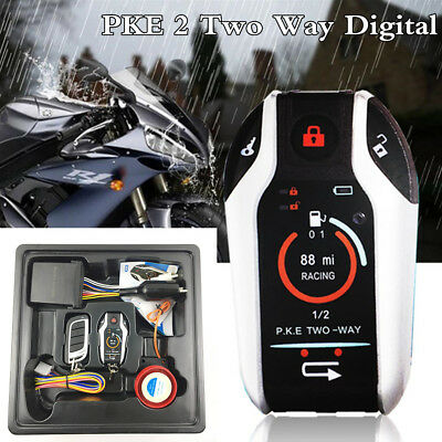 Motorcycle Alarm System Scooter Anti-theft Alarm Remote Engine Start Stop PKE 2