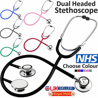 Medical EMT Dual Head Stethoscope For Pro Doctor Nurse Vet Student Health Care