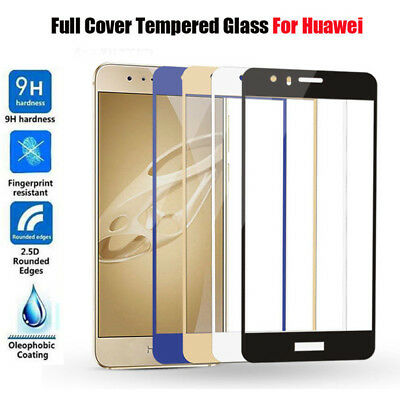 3COLOR For Huawei P8 P9 P10 Lite Plus Full Cover Tempered Glass Screen Protector