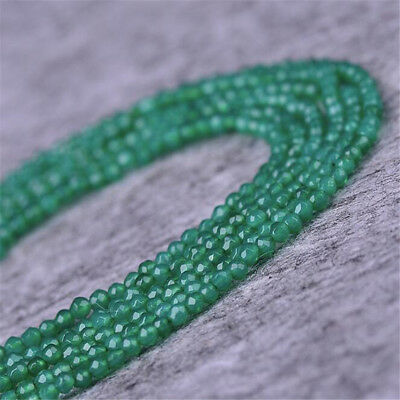"1pcs 4MM chrysoprase Faceted Gemstone Loose bead 15"" Charm Spacer DIY Craft"