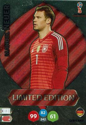 Panini Adrenalyn XL World Cup 2018 Rusia Copa Del Mundo Limitado Edition Manuel
